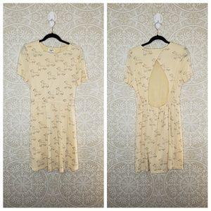 pepaloves Dachshund Print Babydoll Dress L